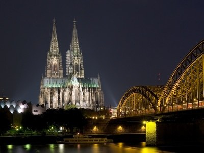 Night photograph cologne Dom