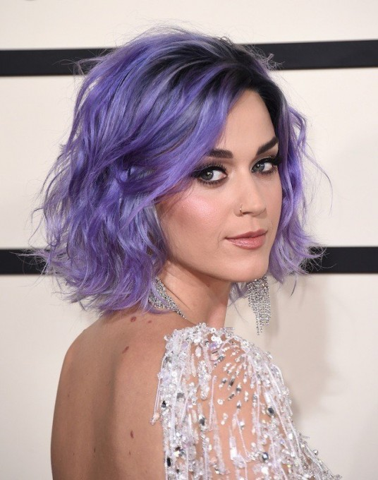 Katy Perry arrives at the 57th annual Grammy Awards at the Staples Center on Sunday, Feb. 8, 2015, in Los Angeles. (Photo by Jordan Strauss/Invision/AP)