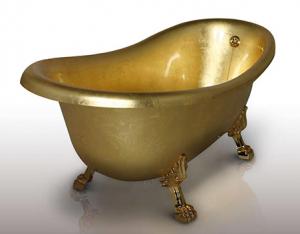 Gold-bath-tub
